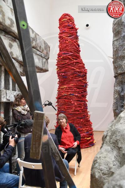 Phyllida Barlow - Venezia - 10-05-2017 - Maria Grazia Cucinotta ospite del padiglione Malta alla Biennale