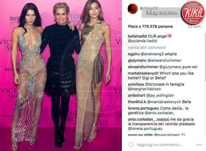 Bella Hadid, Gigi Hadid, Yolanda Foster - 15-05-2017 - Valentina Ferragni nuova star di Instagram: mi manda Chiara