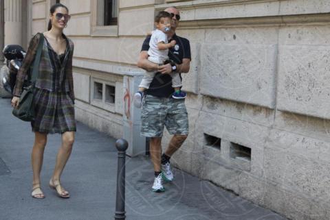 Gabrio Tullio Ramazzotti, Marica Pellegrinelli, Eros Ramazzotti - Milano - 17-05-2017 - Marica Pellegrinelli, 29 anni d'amore con Eros e Gabrio