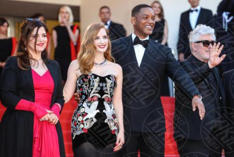 Agnes Jaoui, Jessica Chastain, Pedro Almodovar, Will Smith - Cannes - 17-05-2017 - Cannes 2017, le immagini della prima giornata