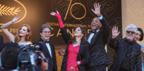 Park Chan-Wook, Agnes Jaoui, Jessica Chastain, Fan Bingbing, Paolo Sorrentino, Pedro Almodovar, Will Smith - Cannes - 17-05-2017 - Cannes 2017, le immagini della prima giornata