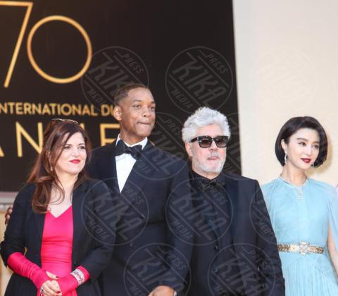 Agnes Jaoui, Fan Bingbing, Pedro Almodovar, Will Smith - Cannes - 17-05-2017 - Cannes 2017, le immagini della prima giornata