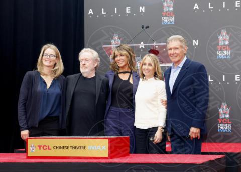 Stacey Snider, Giannina Facio, Ridley Scott, Harrison Ford - Los Angeles - 17-05-2017 - Hanno preso le impronte a Ridley Scott, parola di Harrison Ford