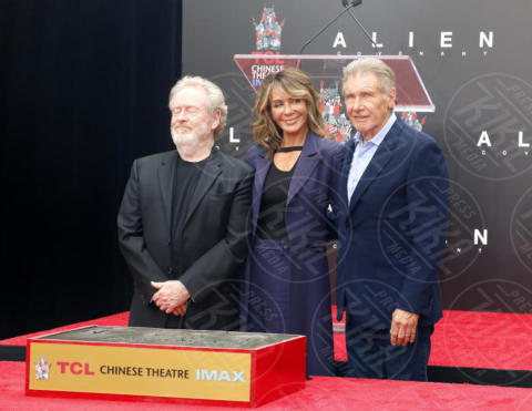Giannina Facio, Ridley Scott, Harrison Ford - Los Angeles - 17-05-2017 - Hanno preso le impronte a Ridley Scott, parola di Harrison Ford