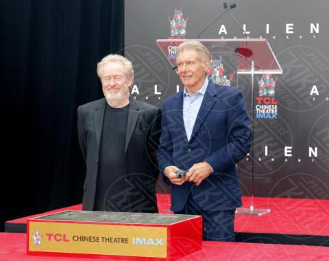 Ridley Scott, Harrison Ford - Los Angeles - 17-05-2017 - Hanno preso le impronte a Ridley Scott, parola di Harrison Ford