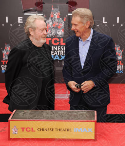 Ridley Scott, Harrison Ford - Hollywood - 17-05-2017 - Hanno preso le impronte a Ridley Scott, parola di Harrison Ford