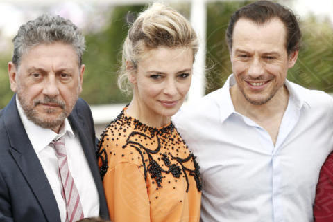 Stefano Accorsi, Jasmine Trinca, Sergio Castellitto - Cannes - 21-05-2017 - Cannes 2017: l'Italia si presenta con Fortunata di Castellitto