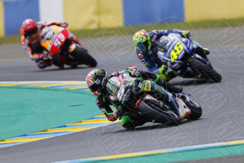 Johan Zarco, Marc Marquez, Valentino Rossi - Le Mans - 21-05-2017 - Le Mans: vince Vinales dopo la caduta di Rossi