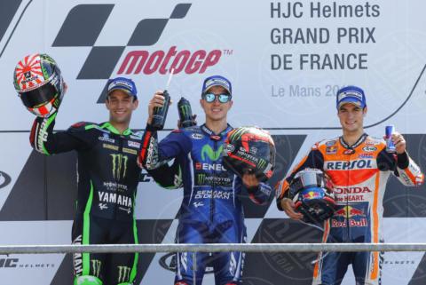 Maverik Vinales, Johan Zarco, Dani Pedrosa - Le Mans - 21-05-2017 - Le Mans: vince Vinales dopo la caduta di Rossi