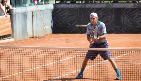 Jimmy Ghione - Roma - 20-05-2017 - Paolo Bonolis e Clarence Seedorf tennisti per una buona causa
