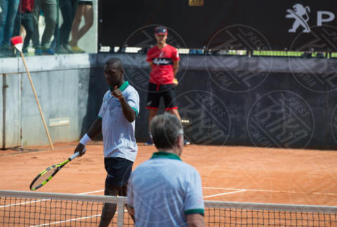 Clarence Seedorf - Roma - 20-05-2017 - Paolo Bonolis e Clarence Seedorf tennisti per una buona causa