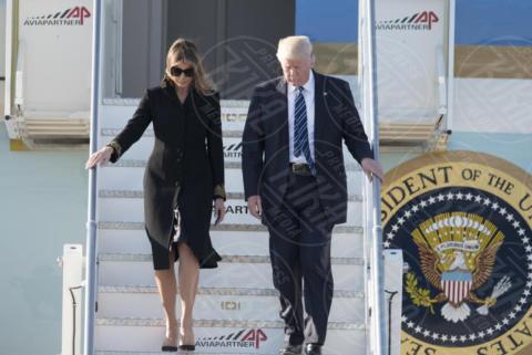 Melania Trump, Donald Trump - Roma - 23-05-2017 - Donald Trump a Roma, Melania rifiuta ancora di dargli la mano