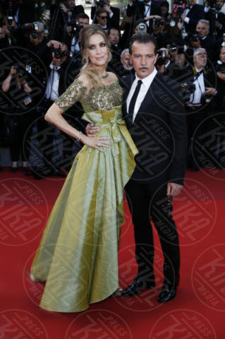 Nicole Kimpel, Antonio Banderas - Cannes - 23-05-2017 - Le prime foto di Antonio Banderas nei panni di Picasso
