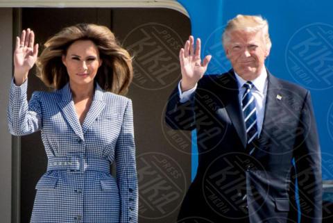 Melania Trump, Donald Trump - Bruxelles - 24-05-2017 - All'asta un disegno minimalista di Donald Trump