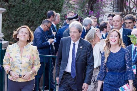 G7 Taormina, Maria Elena Boschi, Paolo Gentiloni - Taormina - 26-05-2017 - Il G7 di Taormina porta alla frattura Europa-Trump