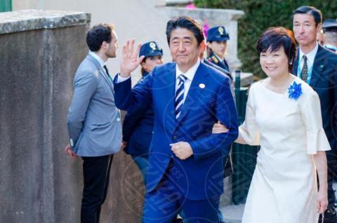 G7 Taormina, Akie Abe, Shinzo Abe - Taormina - 26-05-2017 - Il G7 di Taormina porta alla frattura Europa-Trump
