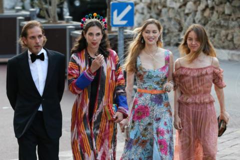 Alexandra di Hannover, Tatiana Santo Domingo, Andrea Casiraghi, Beatrice Borromeo - Monaco - 01-06-2017 - Alexandra di Monaco: sboccia l'amore al Parco dei Principi