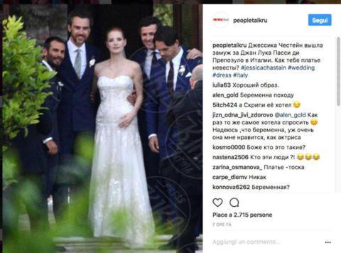 Gian Luca Passi De Preposulo, Jessica Chastain - Carbonera (TV) - 11-06-2017 - Emily Blunt e Anne Hathaway alle nozze di Jessica Chastain