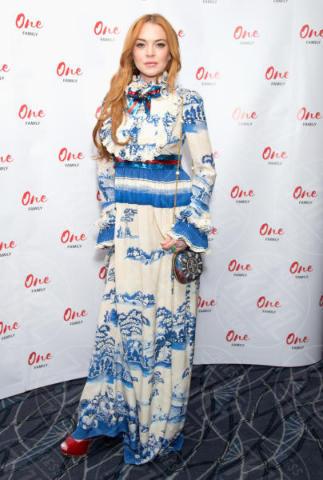 Lindsay Lohan - Londra - 13-06-2017 - Lindsay Lohan, l'abito di Gucci vale 4500 euro