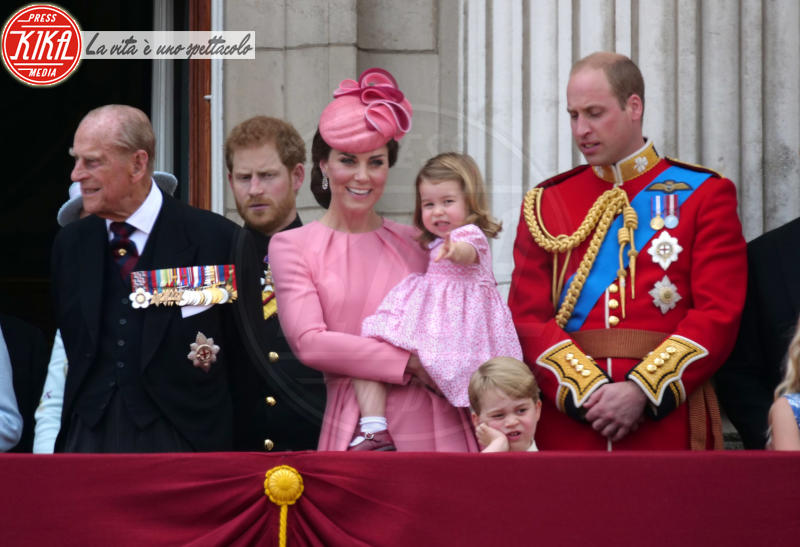 Principessa Charlotte Elizabeth Diana, Principe George, Principe William, Kate Middleton, Principe Harry - Londra - 17-06-2017 - Principe George: mamma, guarda come non mi diverto!