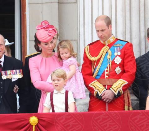Principessa Charlotte Elizabeth Diana, Principe George, Regina Elisabetta II, Principe William, Kate Middleton, Principe Filippo Duca di Edimburgo - Londra - 17-06-2017 - Trooping The Colour: la festa blindata per la Regina Elisabetta
