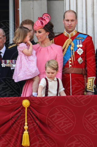 Principessa Charlotte Elizabeth Diana, Principe George, Principe William, Kate Middleton - Londra - 17-06-2017 - Principe George: mamma, guarda come non mi diverto!