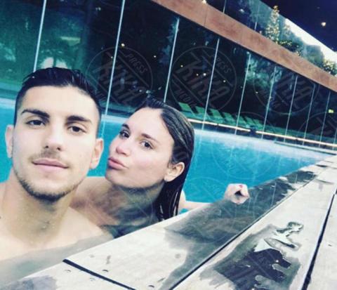 Veronica Martinelli, Lorenzo Pellegrini - Milano - 19-06-2017 - Under 21: ecco le fidanzate degli azzurrini