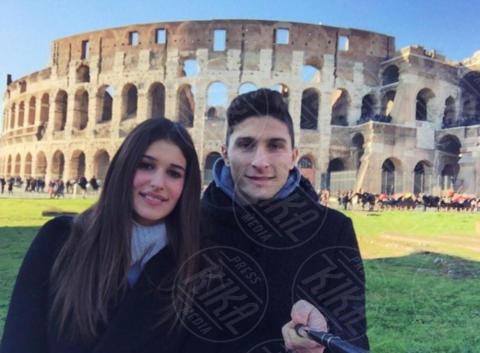 Giulia Ghisalberti, Mattia Caldara - Milano - 19-06-2017 - Under 21: ecco le fidanzate degli azzurrini