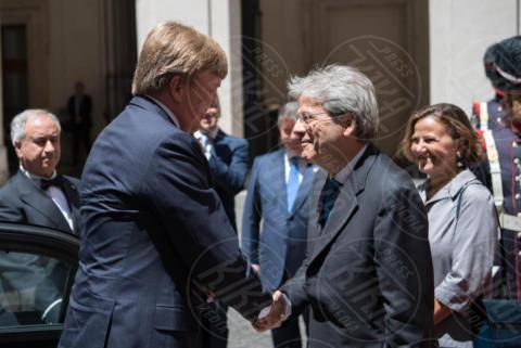 Guglielmo Alessandro dei Paesi Bassi, Paolo Gentiloni - Roma - 20-06-2017 - Guglielmo Alessandro e Maxima d'Olanda, un giorno da italiani