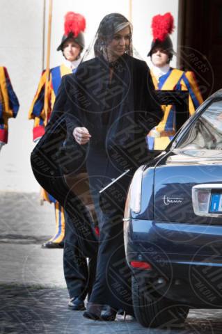 Regina Maxima d'Olanda - Roma - 22-06-2017 - Maxima d'Olanda in nero e in lungo da Papa Francesco