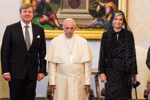 Regina Maxima d'Olanda, Re Willem-Alexander d'Olanda, Papa Francesco - Roma - 22-06-2017 - Maxima d'Olanda in nero e in lungo da Papa Francesco
