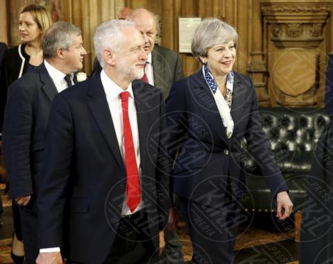 Jeremy Corbyn, Theresa May - Londra - 21-06-2017 - Elisabetta II ha l'Europa in testa all'apertura del Parlamento?
