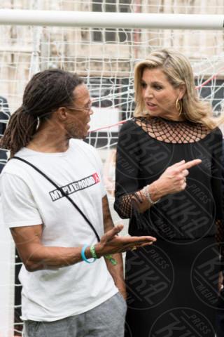Queen Maxima, Regina Maxima d'Olanda, Edgar Davids - Milano - 22-06-2017 - La Milano di Maxima d'Olanda: calcio, Cinquecento e mozzarella!