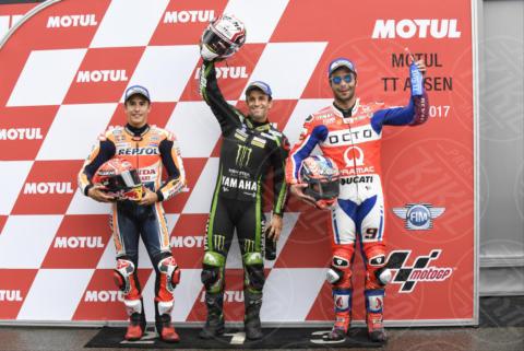 Danilo Petrucci, Johann ZARCO, Marc Marquez - Assen - 24-06-2017 - MotoGp, Valentino Rossi, capolavoro ad Assen: decimo successo