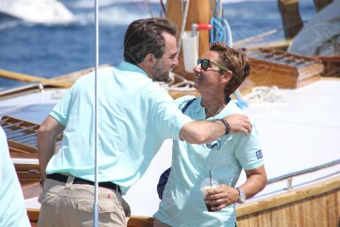 Sofia Bekatorou, PRINCE NIKOLAOS OF GREECE, Denmark - Spetses - 26-06-2017 - I reali greci si dilettano come skipper
