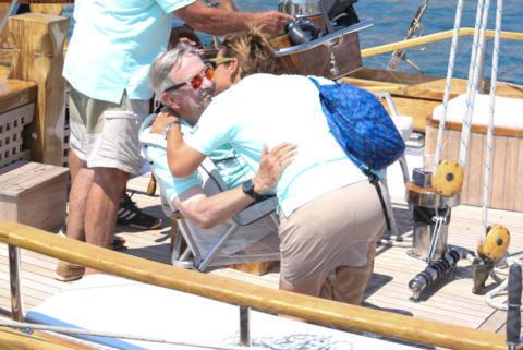 Constantine II of Greece, Sofia Bekatorou - Spetses - 26-06-2017 - I reali greci si dilettano come skipper