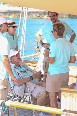 Constantine II of Greece, Sofia Bekatorou, Queen Anne-Marie of Greece, PRINCE NIKOLAOS OF GREECE, Denmark - Spetses - 26-06-2017 - I reali greci si dilettano come skipper