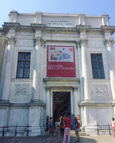 Gallerie dell'accademia - Venezia - 28-06-2017 - Le tappe veneziane del turista Brad Pitt. Seguiteci