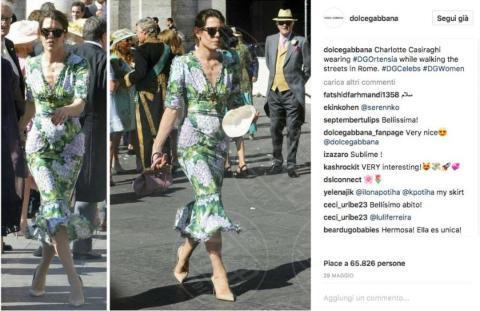 #DGortensia, Charlotte Casiraghi - Il fiore dell'estate? L'ortensia, quella di Dolce & Gabbana