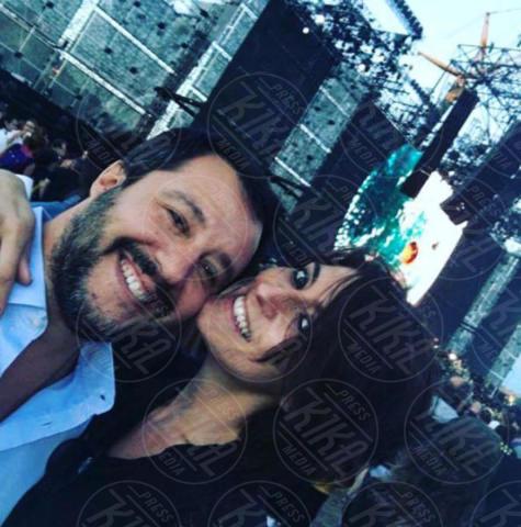 Matteo Salvini, Elisa Isoardi - Modena - 02-07-2017 - Vasco Rossi: le curiosità sul live dei record
