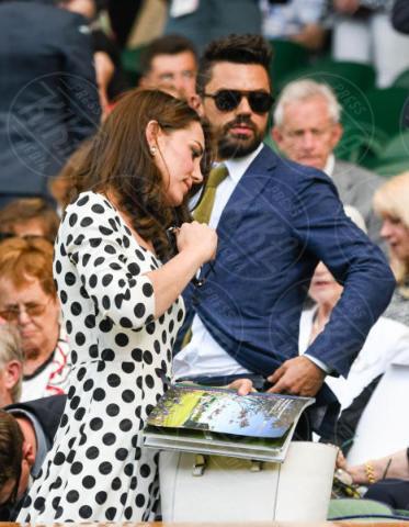 Kate Middleton, Dominic Cooper - Londra - 03-07-2017 - Kate Middleton a Wimbledon: i pois sono di Dolce & Gabbana