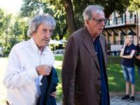 Enrico Lucherini, Carlo Vanzina - Roma - 05-07-2017 - L'ultimo saluto a Fantozzi: funerale laico alla Casa del Cinema