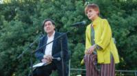 Giorgio Gosetti, Milena Vukotic - Roma - 05-07-2017 - L'ultimo saluto a Fantozzi: funerale laico alla Casa del Cinema