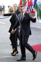 Brigitte Macron, Emmanuel Macron - Amburgo - 07-07-2017 - G20 di Amburgo: centinaia di civili e agenti feriti. Le foto