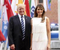 Melania Trump, Donald Trump - Amburgo - 07-07-2017 - G20 di Amburgo: centinaia di civili e agenti feriti. Le foto