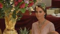 Kate Middleton - Londra - 13-07-2017 - Kate Middleton alla cena di stato con la tiara di Lady Diana