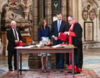 Very Reverend John Hall, King Felipe VI, Letizia Ortiz - Londra - 13-07-2017 - Letizia e Felipe di Spagna visitano l'abbazia di Westminster