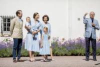 Principessa Estelle di Svezia, Principe Oscar di Svezia, Re Carlo di Svezia, Principessa Victoria di Svezia, Regina Silvia di Svezia, Principe Daniel di Svezia - Borgholm - 15-07-2017 - Principessa Victoria di Svezia, buon compleanno!