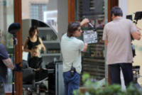 Luciano Ligabue - Reggio Emilia - 15-07-2017 - Stefano Accorsi lavora sul set, il piccolo Lorenzo lo guarda!