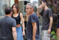 Kasia Smutniak, Luciano Ligabue - Reggio Emilia - 15-07-2017 - Stefano Accorsi lavora sul set, il piccolo Lorenzo lo guarda!